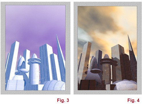 3D city render